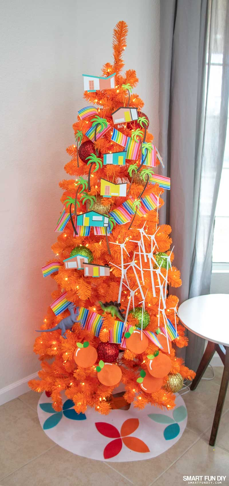 palm springs inspired christmas tree