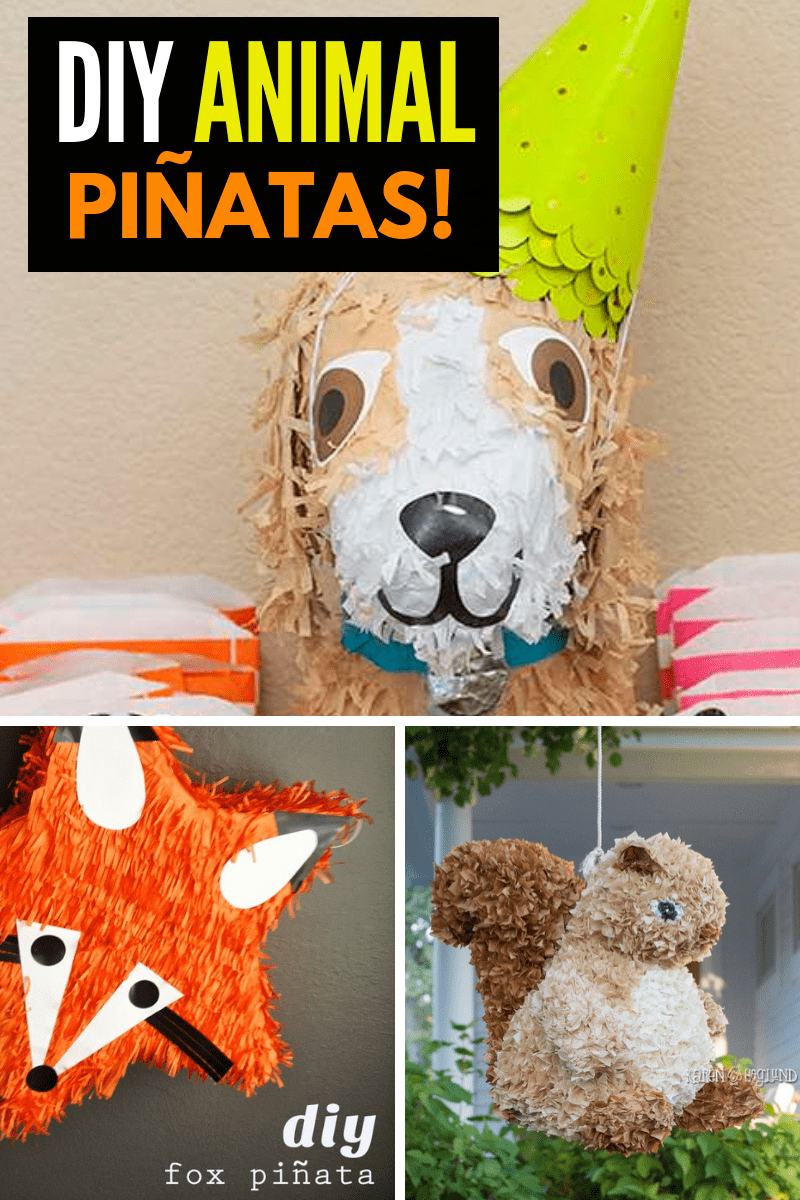 DIY Animal Pinatas Collage