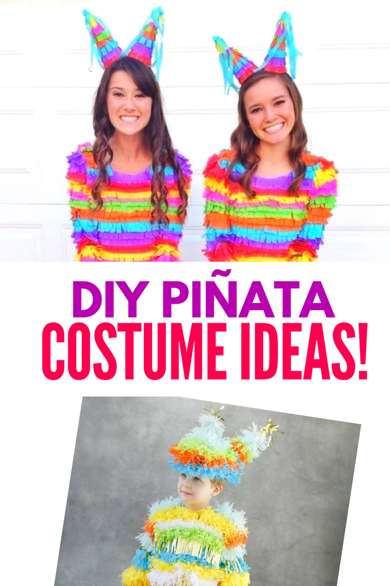 DIY Pinata Costume Ideas Collage