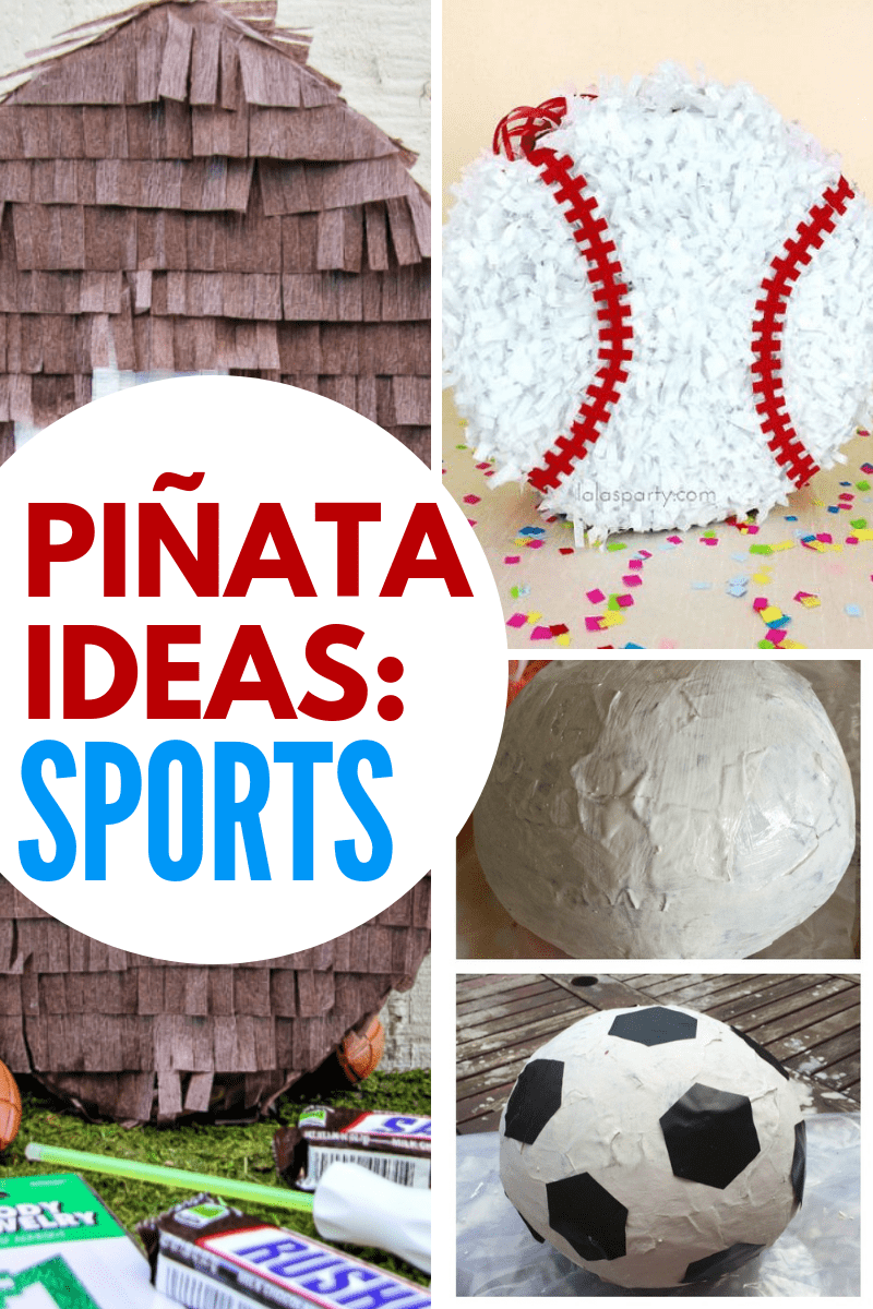 DIY Sports Pinatas Collage