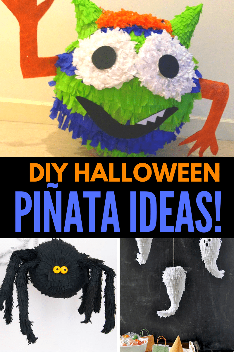 DIY Halloween Pinatas Collage