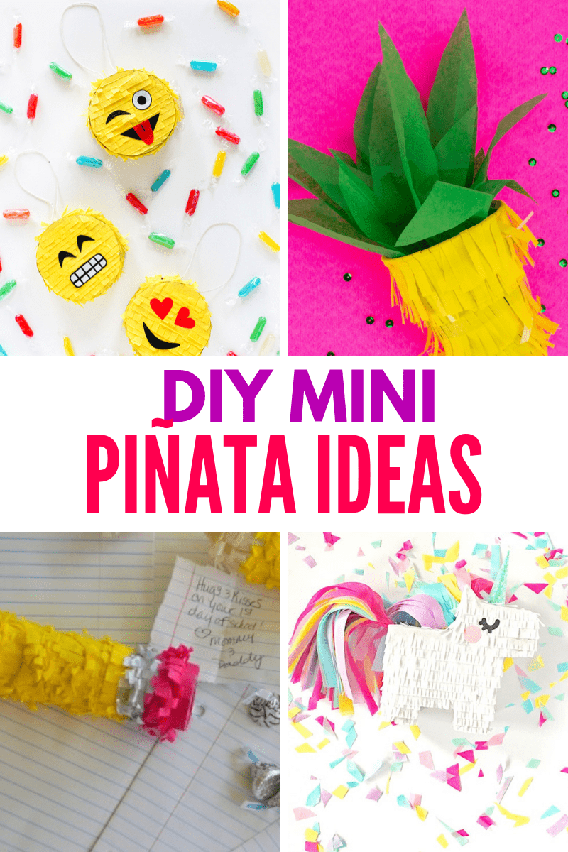 DIY Mini Pinata Ideas collage image