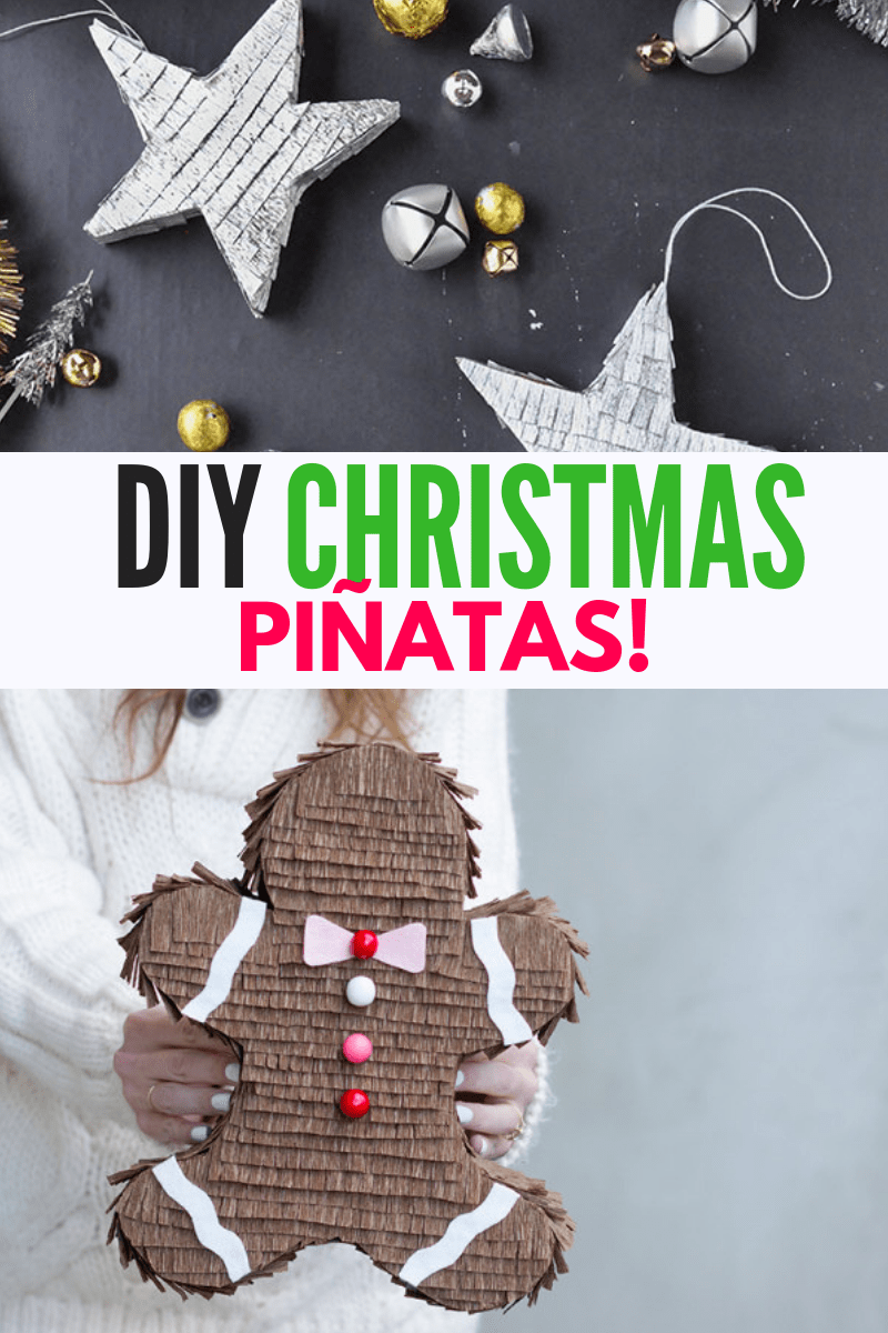 DIY Christmas Pinatas Collage