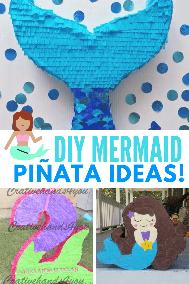 mermaid pinata collage