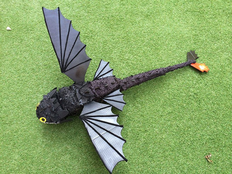 DIY Toothless Pinata from How to Train Your Dragon Movie