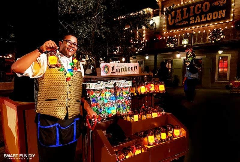 Snow and Glow lanterns for sale at Knott's Merry Farm