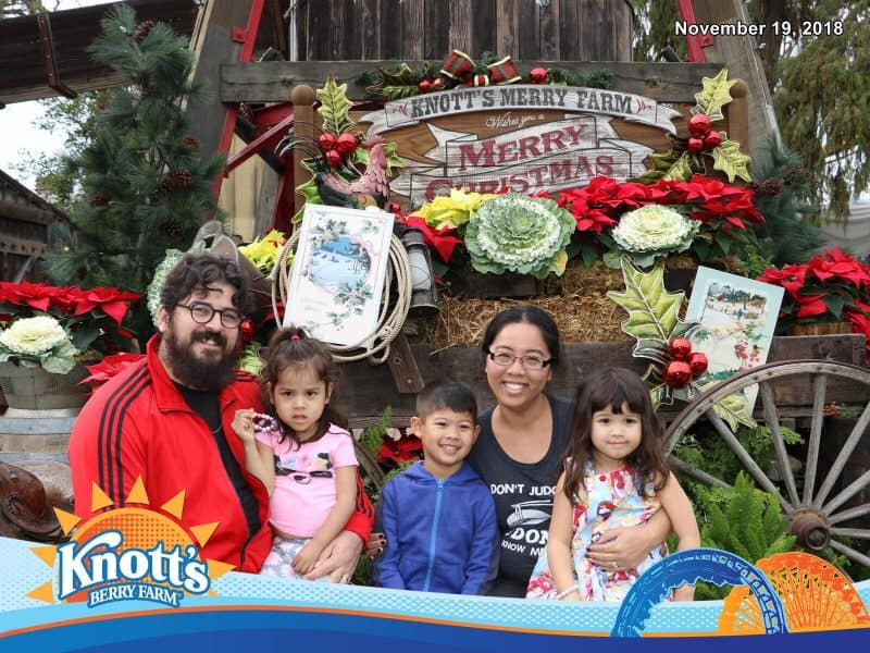 Family Christmas Photo at Knott's Merry Farm