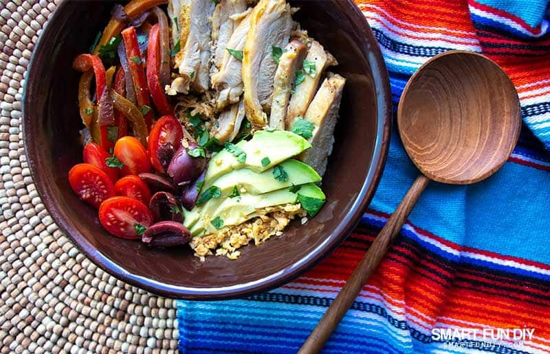 keto chicken fajita bowl recipe