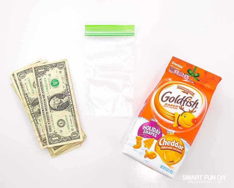 supplies to make goldfish crackers gag gift idea