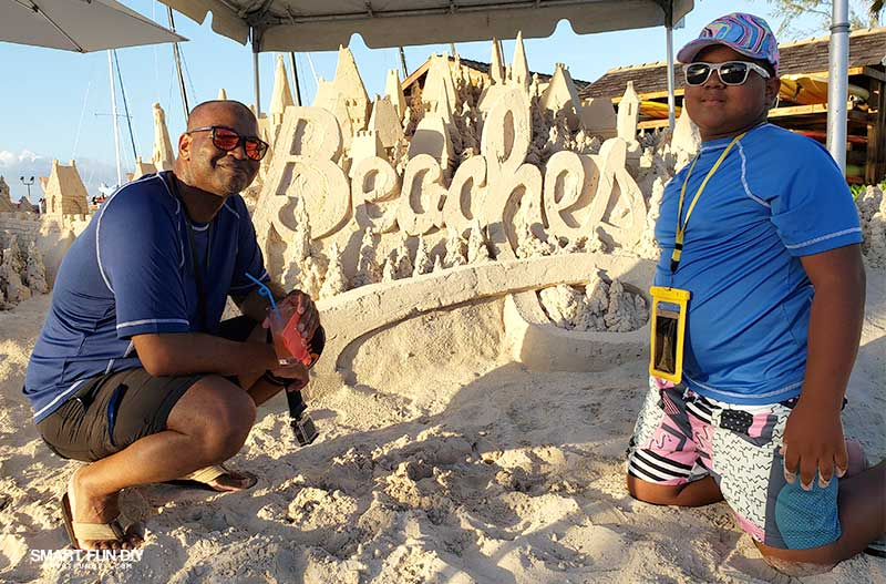 Sand sculpture at Beaches Turks & Caicos