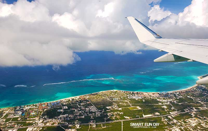 flying over Beaches Turks & Caicos