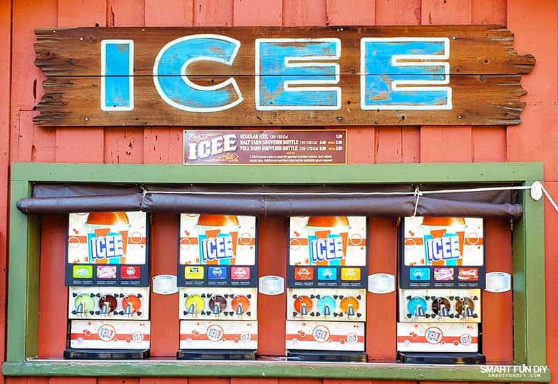 ICEE machines at Knott's Berry Farm