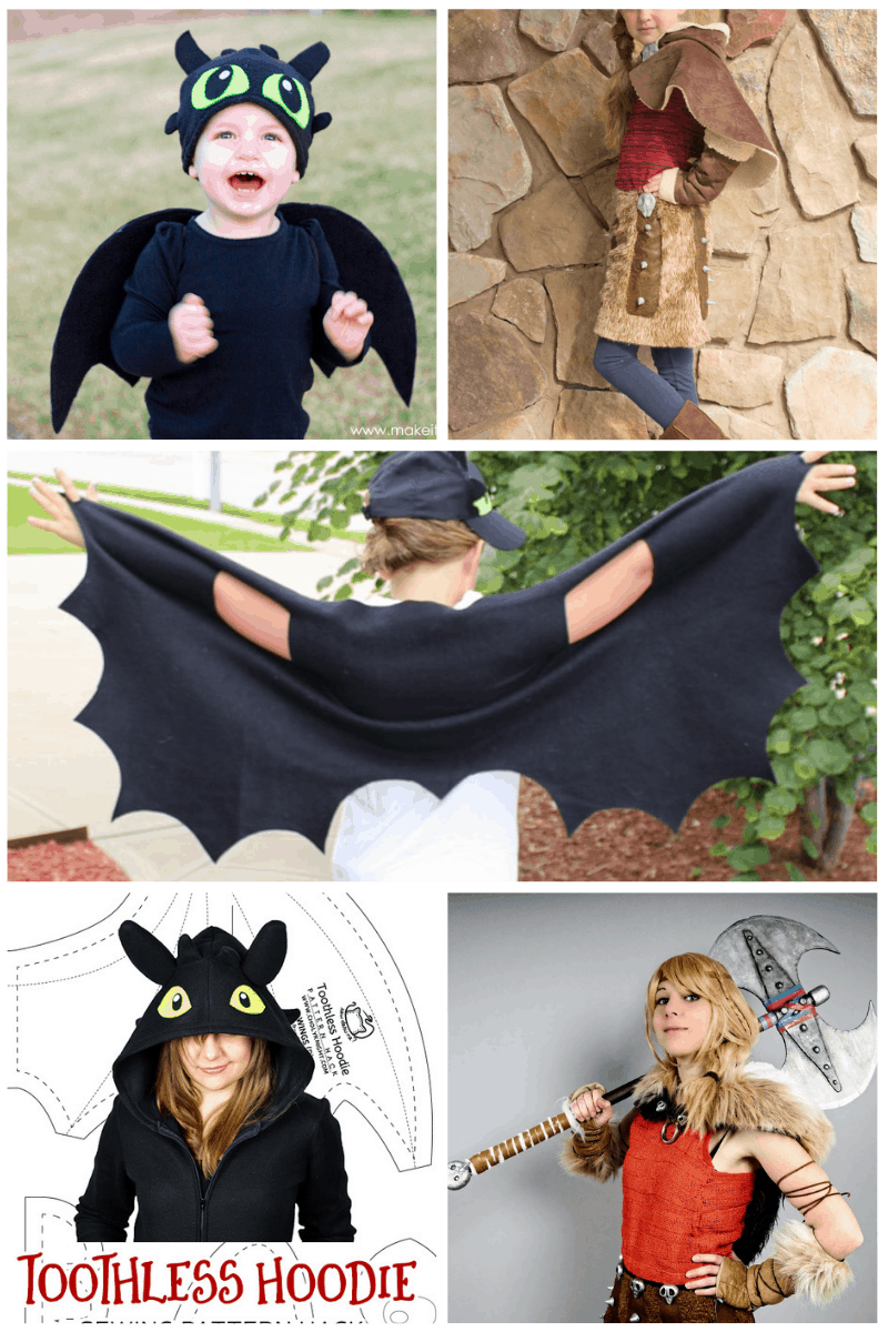 How to Train Your Dragon DIY Costume and Cosplay Ideas Collage #smartfundiy
