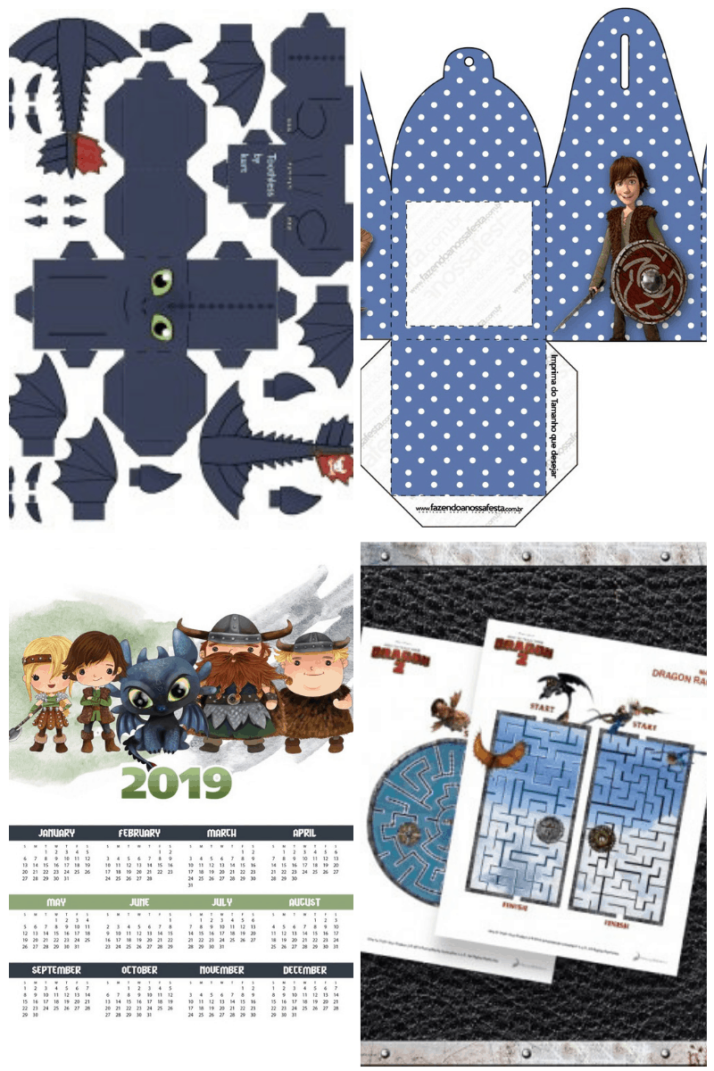 Printables Crafts for How to Train Your Dragon Printables Collage #smartfundiy