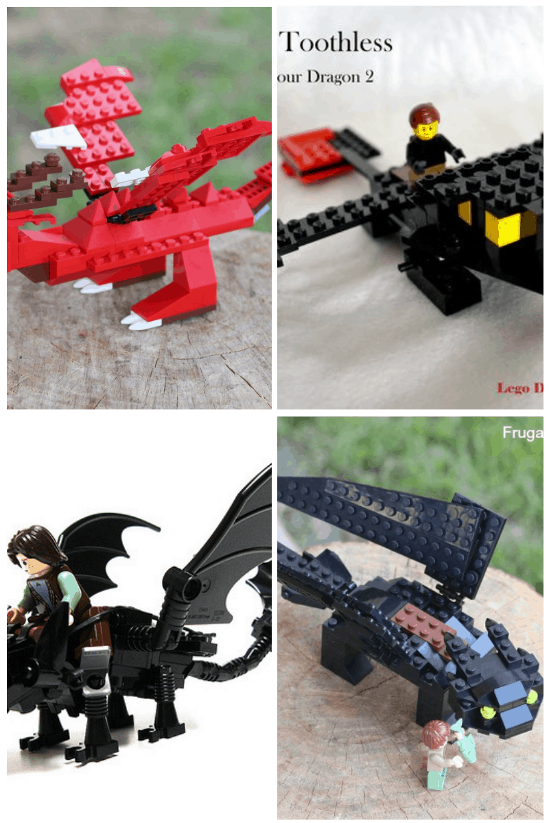 How to Train Your Dragon LEGO Projects Collage #smartfundiy