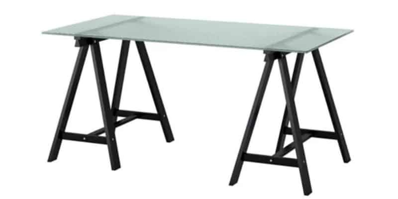 Glasholm Oddvald glass top ikea table for craft rooms