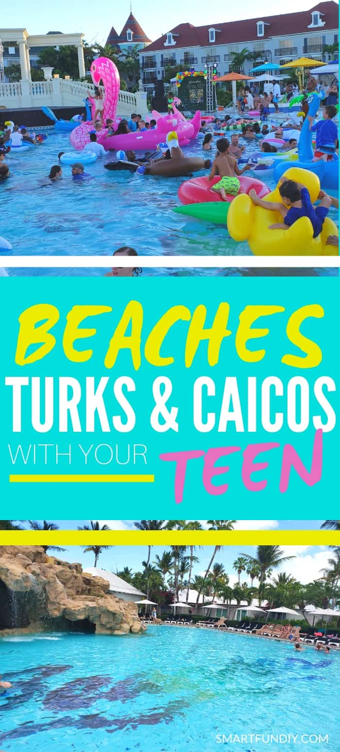 Beaches resorts with teens long pin graphic