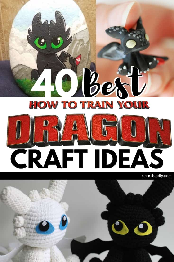40 Best How to Train Your Dragon Craft Ideas Long Pin Graphic Collage