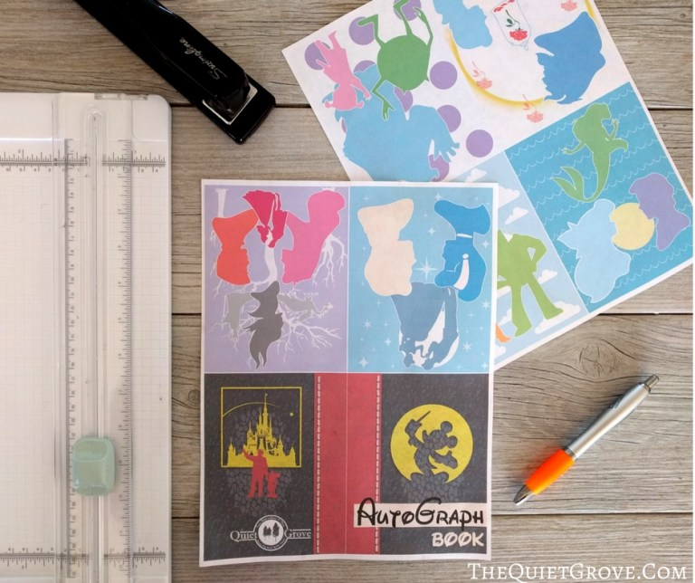 free printable Disney autograph cards