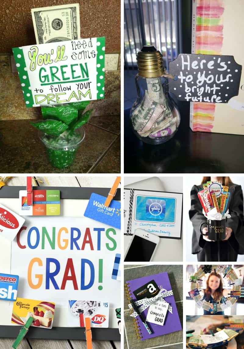 Graduation Money Gift Card Holders Collage