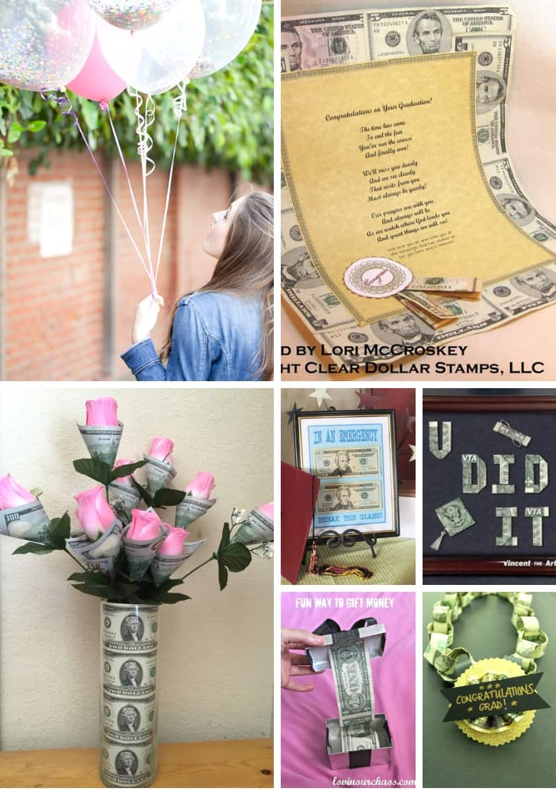Unique Graduation Money Gift Ideas Collage