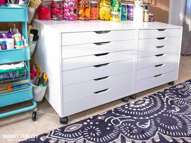 Rainbow Ikea Alex Drawers Hack In 10 Minutes