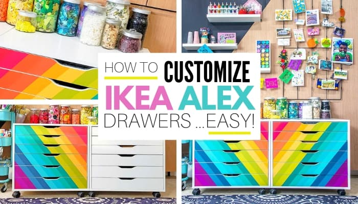 IKEA Alex Drawers Hack graphic with title overlay