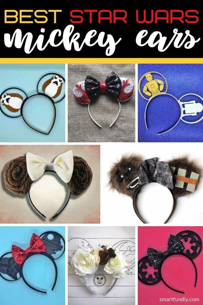 Collage image of best Star Wars Mickey ears available on etsy