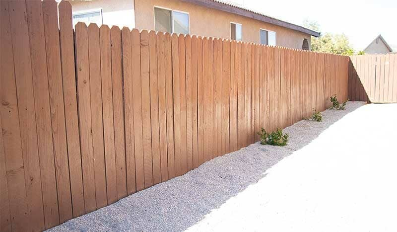 Fence Stained with Thompsons WaterSeal Solid Wood Stain
