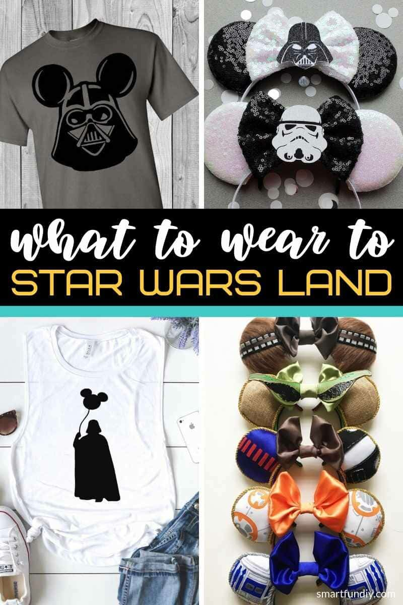 What to wear to Star Wars Land graphic pin image