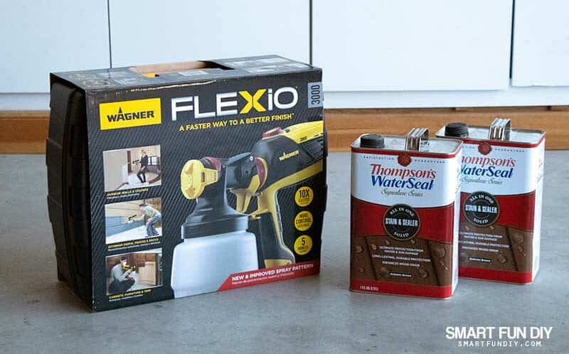 Wagner Flexio sprayer and 2 cans of Thompsons WaterSeal Solid Wood Stain
