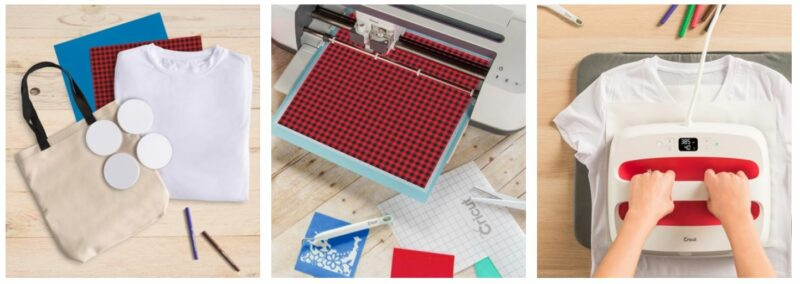 3 steps by step photos how to use Cricut Infusible Ink