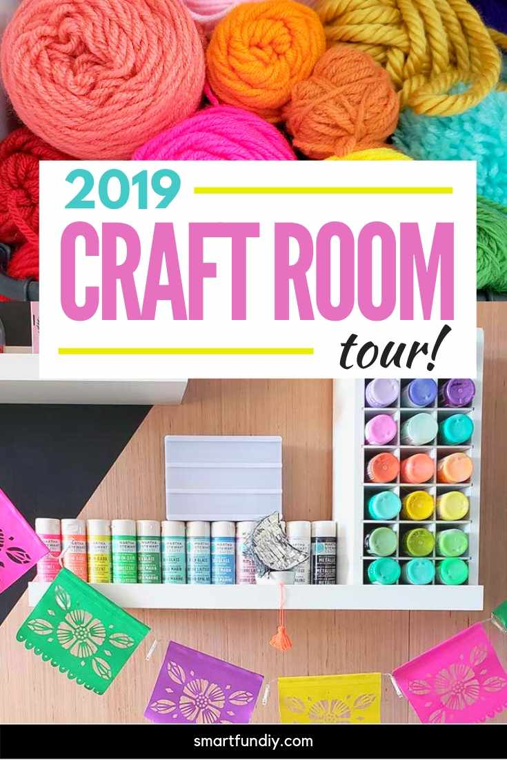 pin graphic for craft room tour