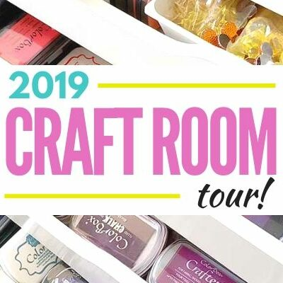 graphic for 2019 craft room tour