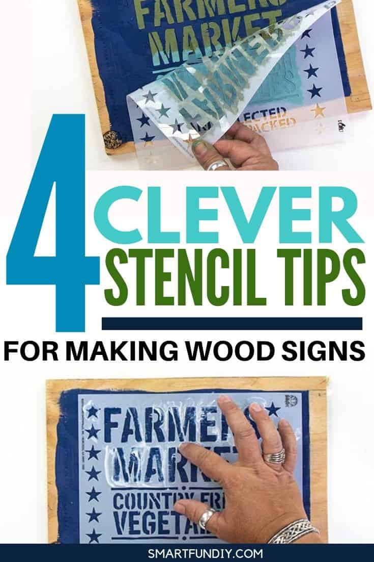 4 Clever STENCIL Tips Every Crafter Should Know - graphic over collage