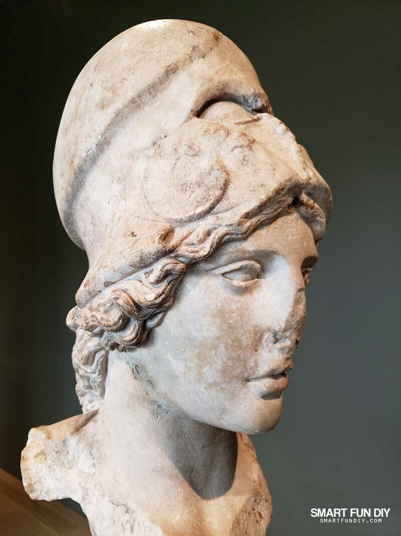 Athena sculpture at The Mary and Michael Jaharis Galleries of Greek, Roman, and Byzantine Art