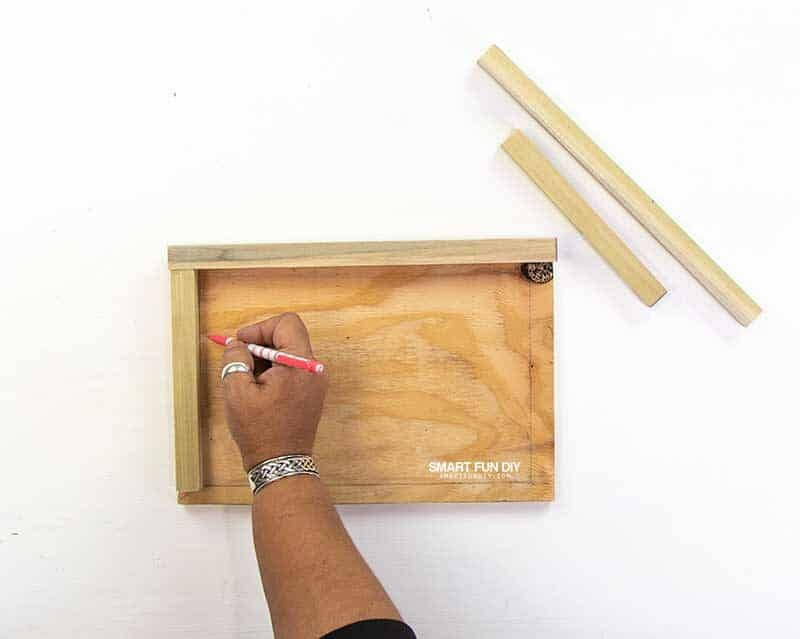 marking frame for DIY wood sign