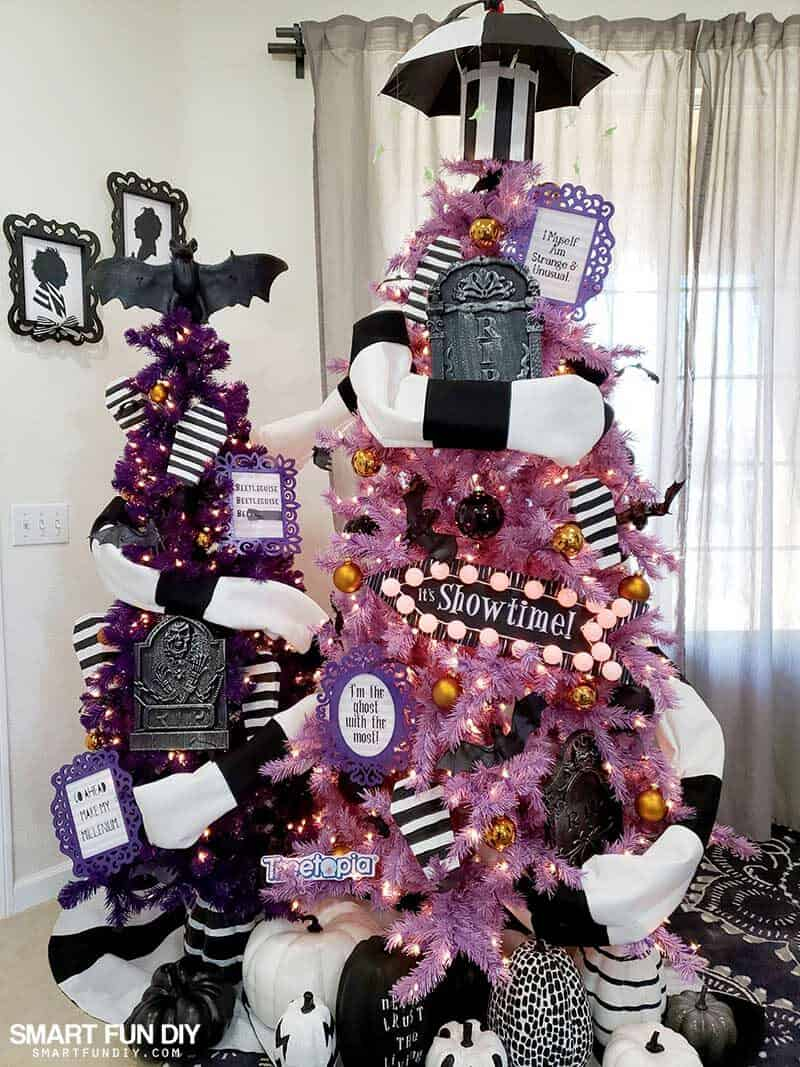 Throwback to the 32s with these Beetlejuice Halloween Trees