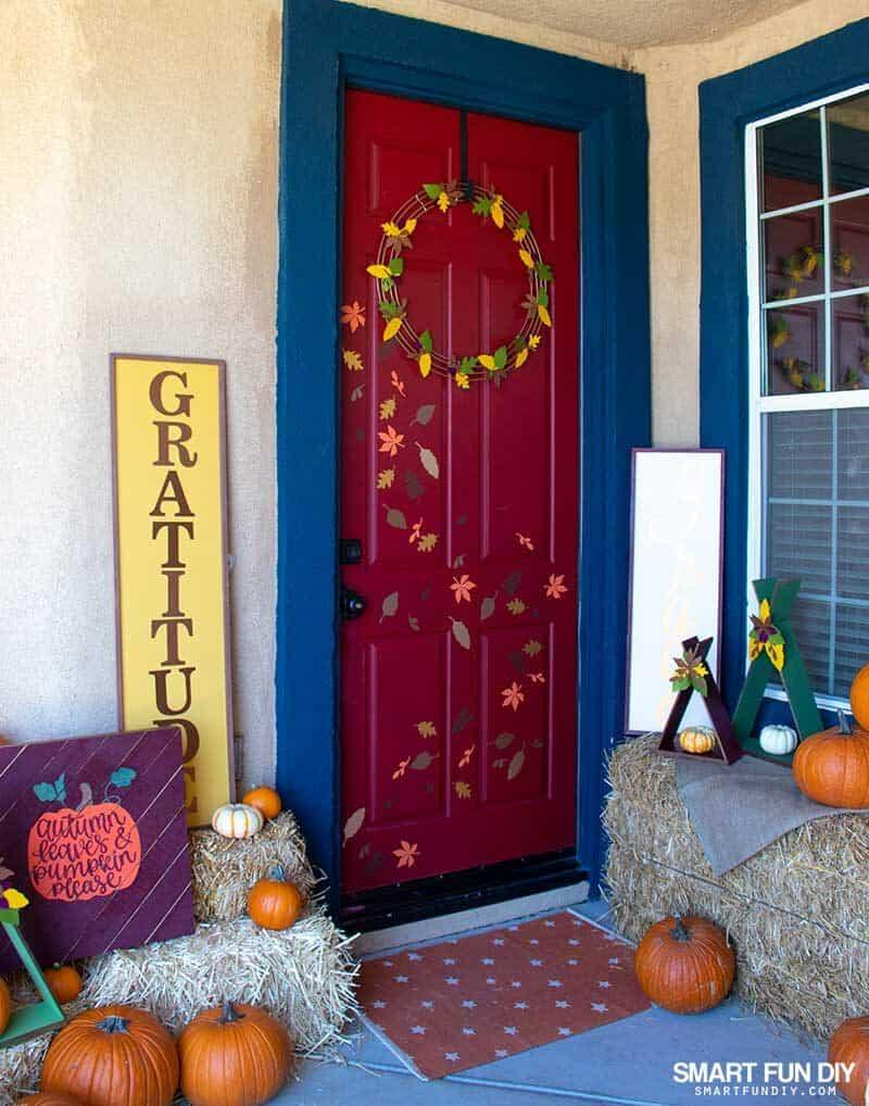 fall front door decor