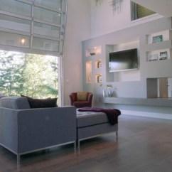Garage Door Living Room Daybeds Replace Walls With Doors Smart Modern In