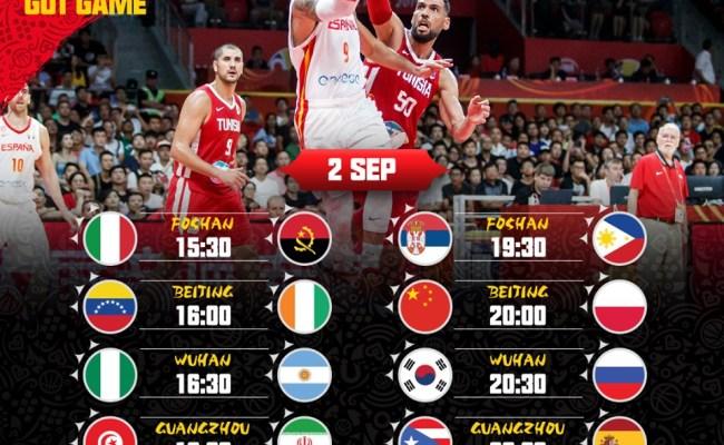 2019 Fiba World Cup Day 3 Game Schedule Gilas Pilipinas