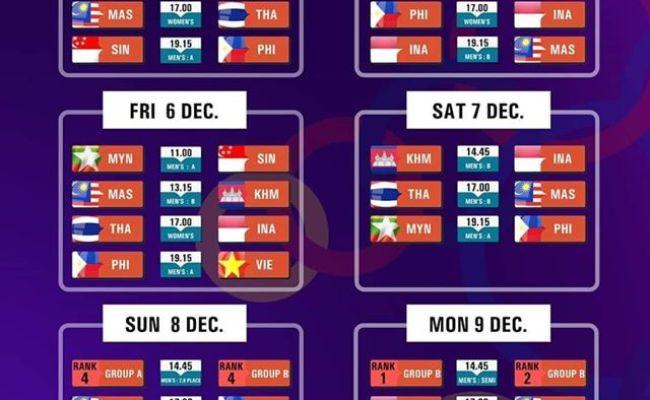 2019 Sea Games Basketball Schedule Gilas Pilipinas
