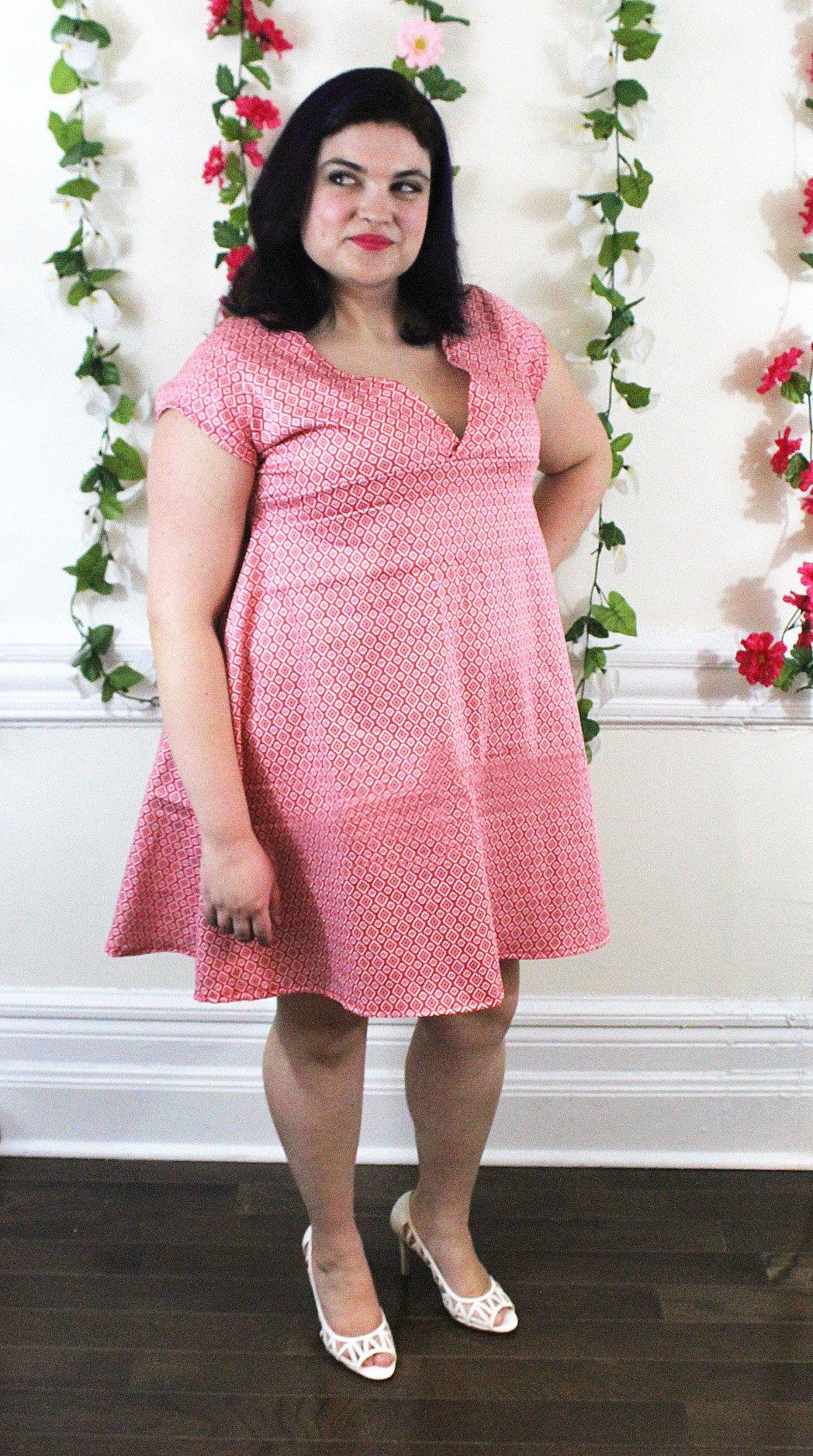 V Neck Babydoll Dress