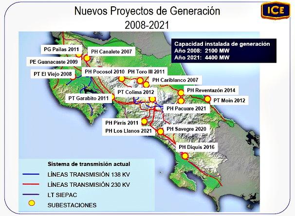 (CLIC SOBRE FOTO PARA AMPLIAR) Proyectos Generación Eléctrica Costa Rica