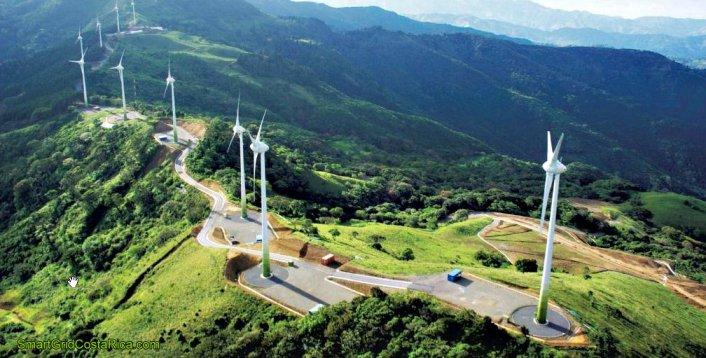 Parque Eólico Valle Central - Eólicas Santa Ana Costa Rica
