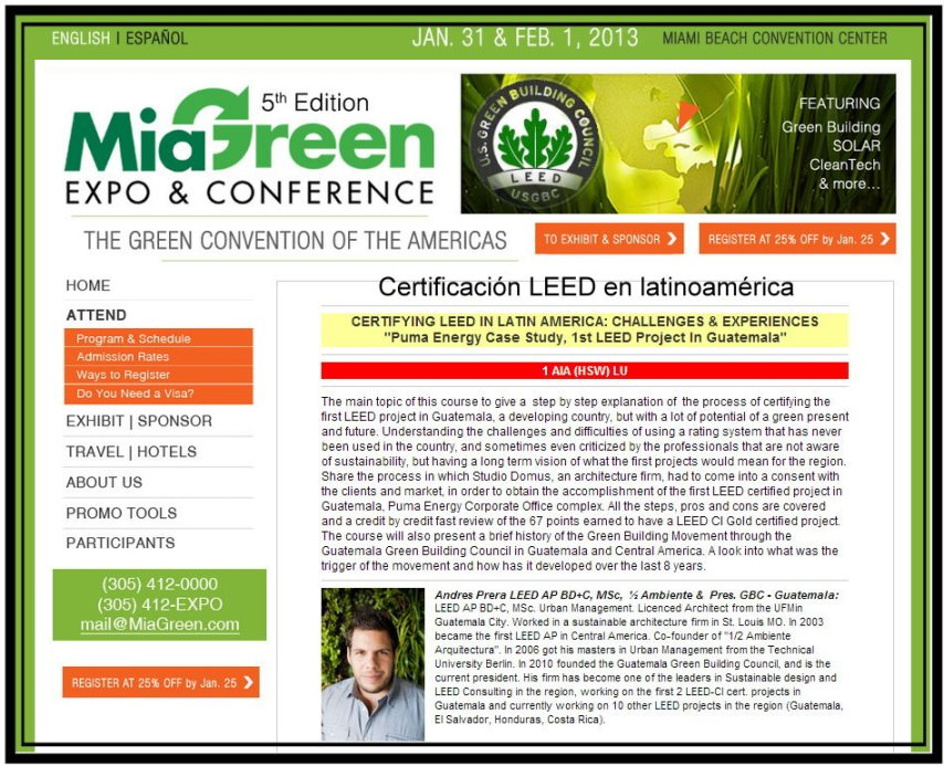 Foro Verde de America LEED Leadership in Energy and Enviroment Design A