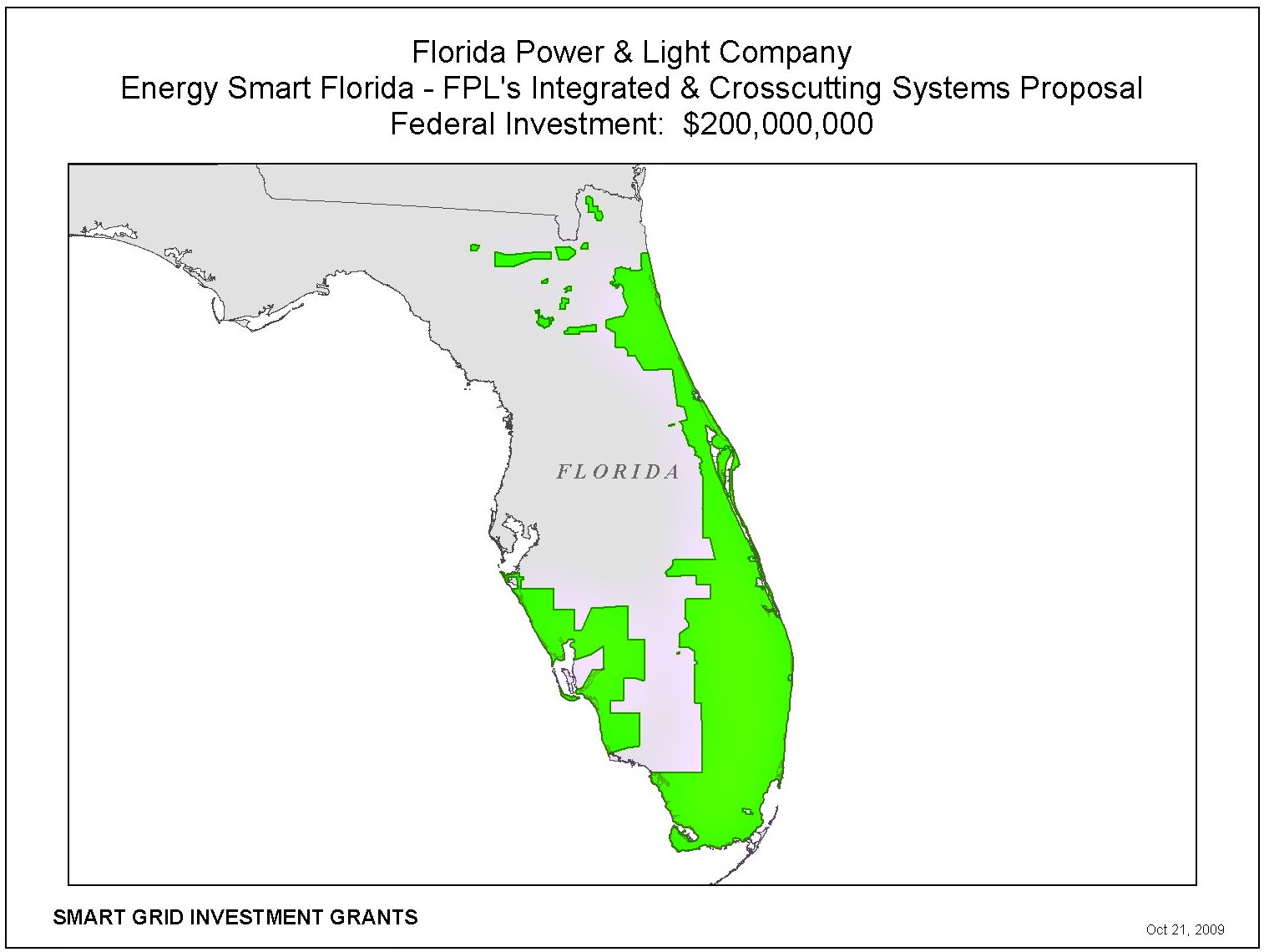 Florida USA Smart Grid Redes Inteligentes FPL Federal Investment