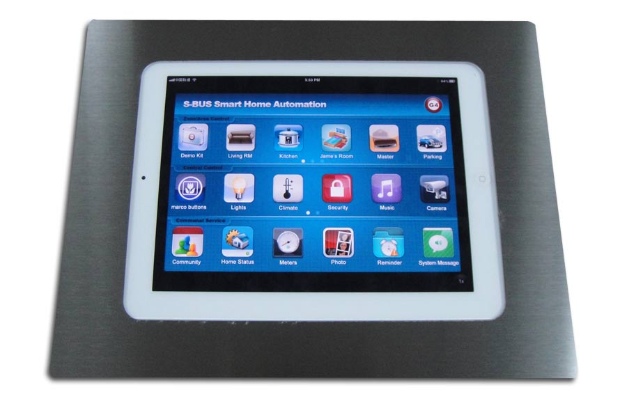 SmartBus Wall Box for Ipad  Android with Cover  SBPadboxWL