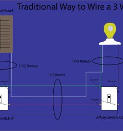 3 way switch wiring diagram [ 2262 x 1421 Pixel ]