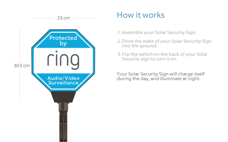 Ring Solar Security Sign Review Smart Home Reviewer